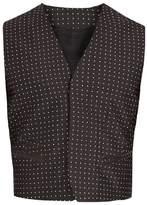 Haider Ackermann Polka-dot Jacquard Silk-blend Waistcoat
