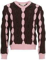 Marni V neck wool sweater
