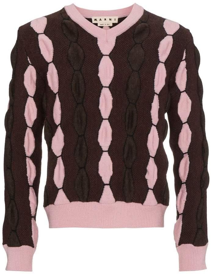 Marni V neck wool sweater