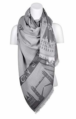 Atas London Luxury Shawl with LONDON Treademarks Scarves for Women