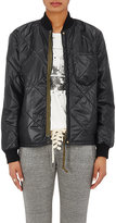 NSF Women's Darryl Quilted Nylon Bomber Jacket-BLACK
