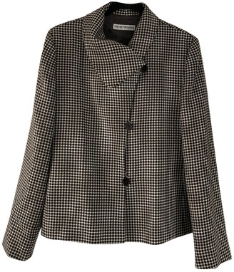 Emporio Armani Brown Wool Jacket for Women Vintage