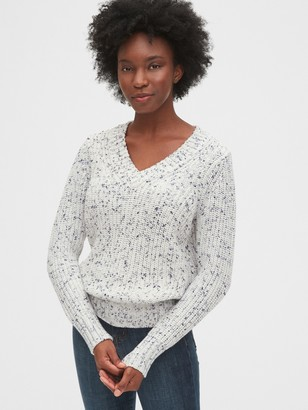 Gap Ribbed V-Neck Sweater