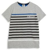 Karl Lagerfeld Toddler's, Little Boy's & Boy's Striped T-Shirt
