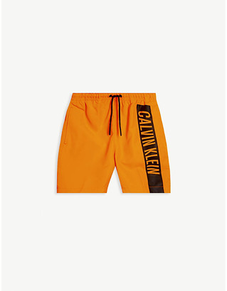 Calvin Klein Logo-printed swim shorts 8-16 years
