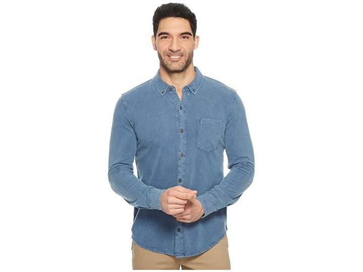 Mod-o-doc Bass Rock Long Sleeve Button Front Polo Shirt