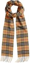 Burberry vintage check long cashmere scarf