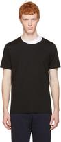 Maison Margiela Black Layered Collar T-shirt