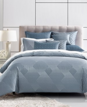 Hotel Collection Closeout! Cascade Cotton 400-Thread Count Blue Full/Queen Duvet Cover, Created for Macy's Bedding