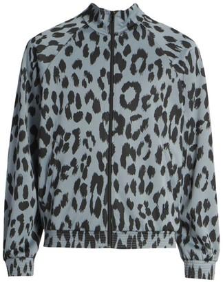 Kenzo Guepard Leopard-Print Jacquard Track Jacket
