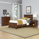 Asstd National Brand Newport Twin Bed, Nightstand and Chest