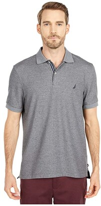 Nautica Solid Polo Shirt (Charcoal Heather) Men's Clothing
