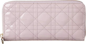Christian Dior Lady Patent Zip Around Wallet