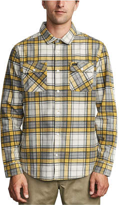RVCA Men Panhandle Regular-Fit Plaid Flannel Shirt