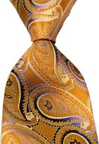 R-ABC Mr.ZHANG New Classic Paisley Purple JACQUARD WOVEN Silk Men's Tie Necktie