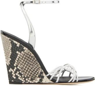 Giuseppe Zanotti Snake-Effect Wedge Sandals