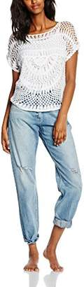 Off-White Tally Weijl Women's Short Sleeve Poncho