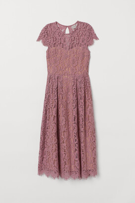 H&M Calf-length lace dress
