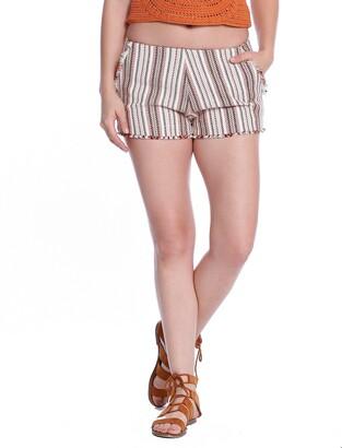 Taylor & Sage Women's Jacquard Stripe Short