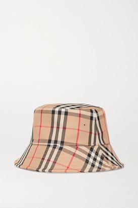 Burberry Checked Cotton-blend Twill Bucket Hat - Beige