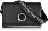 Alexander Wang Black Leather Riot Convertible Clutch w/Chain Strap