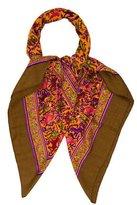 Hermes Chasse En Inde Cashmere Silk Shawl