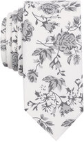 Bar III Men's Mystic Rose Print Skinny Tie, Created for Macy's