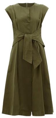 Sea Adalene Tie-waist Cotton-twill Dress - Womens - Khaki