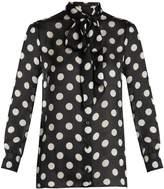 Gucci Polka-dot print silk-georgette blouse