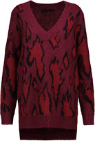 Karl Lagerfeld Intarsia-knit mohair-blend sweater