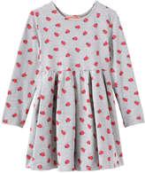 Joe Fresh Toddler Girls' Print Pleat Dress, Grey Mix (Size 3)