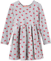 Joe Fresh Toddler Girls' Print Pleat Dress, Grey Mix (Size 5)