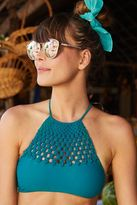 aerie Crop Macramé Bikini Top