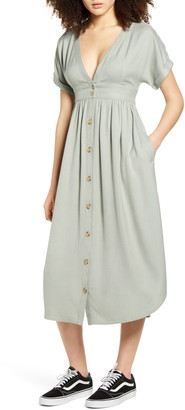 O'Neill Reid Plunge Neck Midi Dress