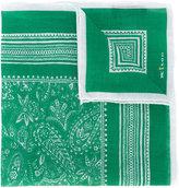 Kiton paisley print pocket square