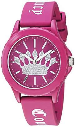 Juicy Couture Black Label Women's Glitter Accented Silicone Strap Watch