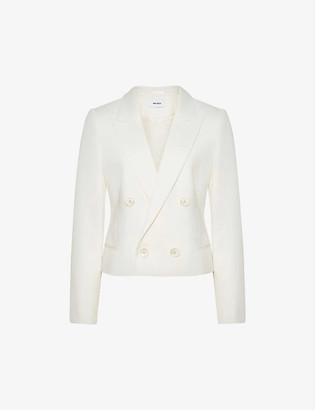 Reiss Aleida double-breasted wool-blend blazer