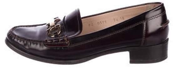 Salvatore Ferragamo Leather Gancini Loafers gold Leather Gancini Loafers