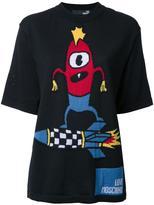 Love Moschino space motif shortsleeved jumper