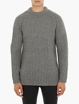 Acne Studios Grey Wool Kas Sweater