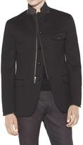 John Varvatos Men's Multi-Closure Notch Lapel Jacket - Walnut