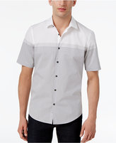 Alfani Men's Ames Striped Colorblocked Cotton Shirt, Only at Macy's
