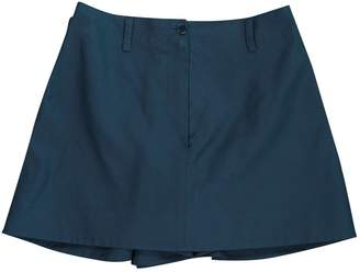 Alaia Blue Cotton Shorts