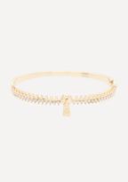 Bebe Crystal Zipper Bracelet