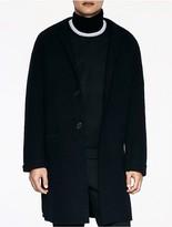 Calvin Klein Platinum Merino Wool Tailored Coat