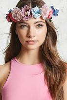 Forever 21 FOREVER 21+ Floral Faux Suede Headwrap