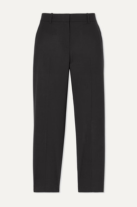 Theory Treeca 2 Cropped Stretch-wool Slim-leg Pants - Black