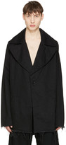 Marques Almeida Black Denim Big Lapel Jacket