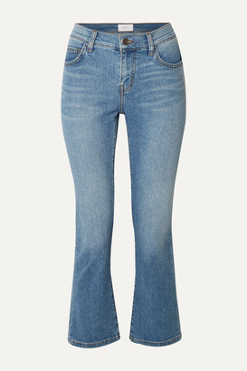 Current/Elliott The Scooped Ruby Cropped Mid-rise Straight-leg Jeans - Light denim