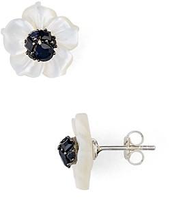 Stephen Dweck Black Sapphire Flower Stud Earrings - 100% Exclusive